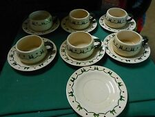 """POPPY TRAIL China """"Homestead Provincial"""" by Metlox-6 CUPS & SAUCERS & FREE Sauc"""