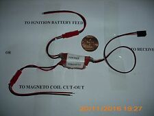 Model radio controlled boat, petrol engine safety cut-out