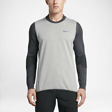 Nike Tech Sphere Knit Crew Men's Golf Cover-Up 801904 091 Grey Size L NWT