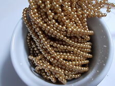 660pcs 3mm GLASS PEARL Faux Imitation Beads - SAND GOLD ( 3 strands )