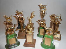 12 Vtg 1950's-60's COONHOUND Bloodhound DOG SHOW TROPHY Blue Tick Brass Awards