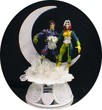 Gambit & Rogue Marvel Comic Wedding Cake Topper Groom funny super hero