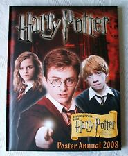 HARRY POTTER POSTER ANNUAL 2008  HARDBACK  FIRST EDITION. FIRST PRINT BOOK.