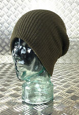 ARMY GREEN Beanie Hat / Watch Cap - One size - BRAND NEW