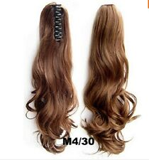 Long Curly 55cm Claw Pony tail Ponytail Clip In On Hair Extension Wavy Synthetic