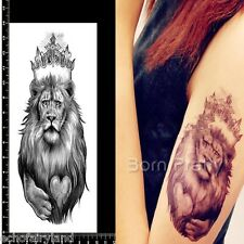 1Sheet Cool Lion Waterproof Temporary Tattoo Paper Decal Punk Style Body Art
