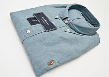 Polo Ralph Lauren Slim-Fit Washed-Chambray Shirt in Size XXL in Washed Blue