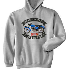 BSA 125 BANTAM - GREY HOODIE - ALL SIZES IN STOCK