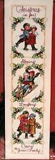 Victorian Christmas Bell Pull Janlynn Counted Cross Stitch Kit Christmas Holiday