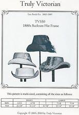 Schnittmuster Truly Victorian TV 550: 1880's Buckram Hat Frames