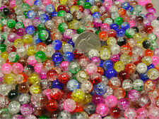 1/2 POUND LOT ASSORTED COLOR CRACKLE GLASS BEADS (082820151)