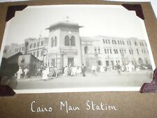 Old photograph Cairo main train station Egypt c1946