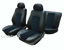 FULL SEAT COVERS SET PROTECTORS BLACK FOR VW TIGUAN CADDY PASSAT BORA POLO