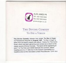 (EZ585) The Divine Comedy, To Die A Virgin - 2006 DJ CD
