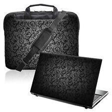 "TaylorHe 15.6"" Laptop Shoulder Bag Handles Strap & Skin Bundle Paisley"