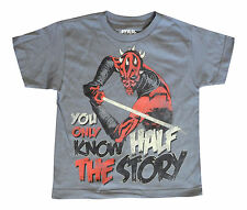 Star Wars Clone Wars Darth Maul Light Saber Gray Kids Youth Extra Small T Shirt