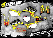 SCRUB Suzuki RMz 450 2005 - 2006 Grafik Sticker Dekor-Set '05-'06