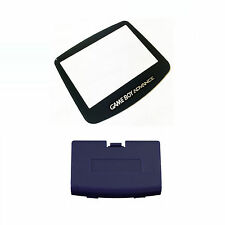 New INDIGO Game Boy Advance Battery Cover + New Screen Lens GBA Replacement Door