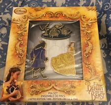 Beauty And The Beast Limited Edition Pin Set x3 2017 Live Action Film Disney