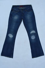 Levis 559 Marissa Square Bootcut frayed Blue Jeans Denim Patchworks W31 L34 UK14