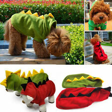 New Pet Dog Cat Cute DINOSAUR Clothes Coat Apparel Puppy Hoodie Fancy Outfit