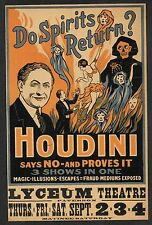 Harry Houdini Medium's Fraud Exposed Reprint On Original Period 1920s Paper