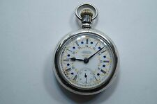 1893 WALTHAM 11J 18S POCKET WATCH NEVADA COIN FANCY DIAL WORKS  A592