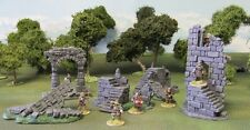 28MM EXQUISITELY PAINTED 'CASTLE/BATTLEMENT RUINS SET'