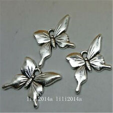 15pc Tibetan Silver butterfly Charm Beads Pendant accessories Findings  PL707