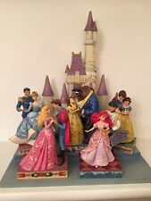 Disney Traditions Jim Shore Couple Castle Display Ariel Aurora Belle Cinderella