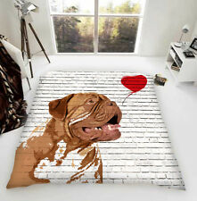 Dogue de Bordeaux Banksy Lusso Coperta In Pile Cane Amanti Regalo UK MADE esclusivo