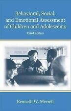 Behavioral, Social, and Emotional Assessment of Children and Adolescents, Kennet