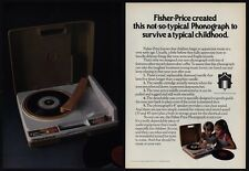 1979 FISHER PRICE Phonograph Record Player VINTAGE MAGAZINE ADVERTISEMENT