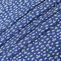 """Shirting Cotton Fabric 41"""" Wide Blue Shirt Craft Sewing Apparel By The Metre"""