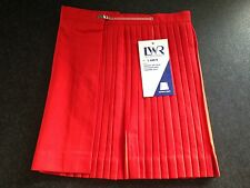 BNWT Girls Sz 16 LWR Brand Smart Red Polyester/Viscose Pleated Netball Skirt