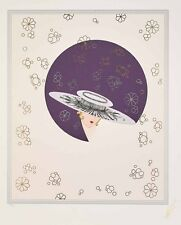 Erté - Seduction, embossed serigraph with foil stamping