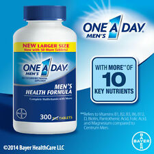 One A Day ® Mens Multivitamins, 300 Tablets Larger Size, Complete Multivitamin
