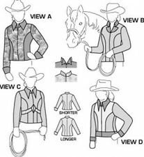 Suitability 5630 Womens and Girls Western Show Jackets Equestrian Sewing Pattern