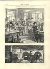 1871 le metropolitan galerie salle des machines à telegraph street old print