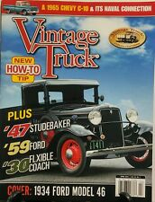 Vintage Truck April 2016 47 Studebaker 59 Ford Flexible Coach FREE SHIPPING sb