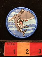 SMILING SHARK OCEAN MARINE-LIFE Fun Cartoon Animal Patch w/ Velcro Back 69WE