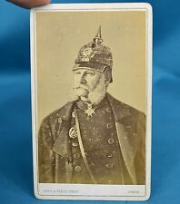 German Royal CDV HRH Wilhelm I German Emperor King Of Prussia Pickelhaube c1880