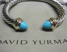 David Yurman 7mm Turquoise Cable Bracelet w/ pouch.