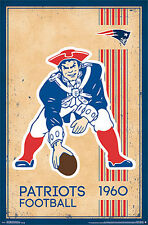 NFL Heritage Series NEW ENGLAND BOSTON PATRIOTS 1960s-STYLE Official Wall POSTER