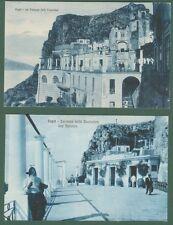 CAPRI, Campania. La Terrazza della Funicolare. Due cart. non viagg. circa 1925