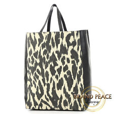 Celine Cabas vertical tote bag canvas / lambskin black / white Free Shipping