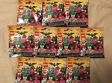 LEGO BATMAN MOVIE Minifigures Series 17 71017 - Lot of 10 NEW Sealed UNSEARCHED