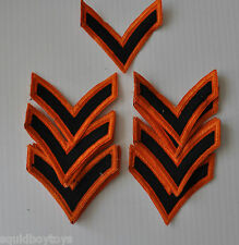 lot of 9 vintage MILITARY STRIPES Patches Patch 1960s Army Stripe