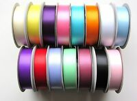 Double Sided Satin Ribbon - Full Rolls 15 Colours, 5 Widths (25M / 50M)(3-25mm)