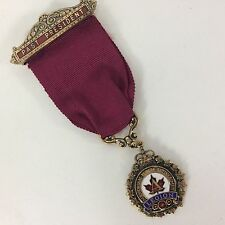 Royal Canadian Legion Past President Medal Ribbon Engraved w/ Case 1969-70 L Aux